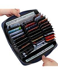 Credit Card Wallet Leather RFID Wallet for Women, Huge...