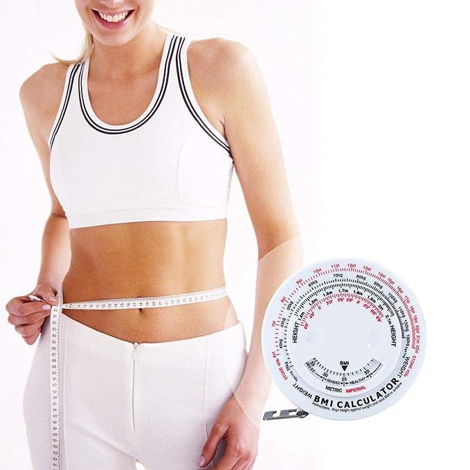 Artibest - Cinta métrica de IMC con calculadora de IMC para índice de masa corporal y evaluación de riesgo de obesidad, cinta métrica de grasa ...