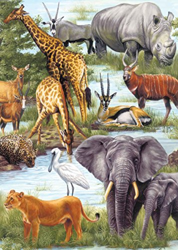 Springbok Puzzles - Animal Kingdom Children's Jigsaw Puzzle - 60 Pieces - Large 13.5 Inch by 18.875 Inch Puzzle ()