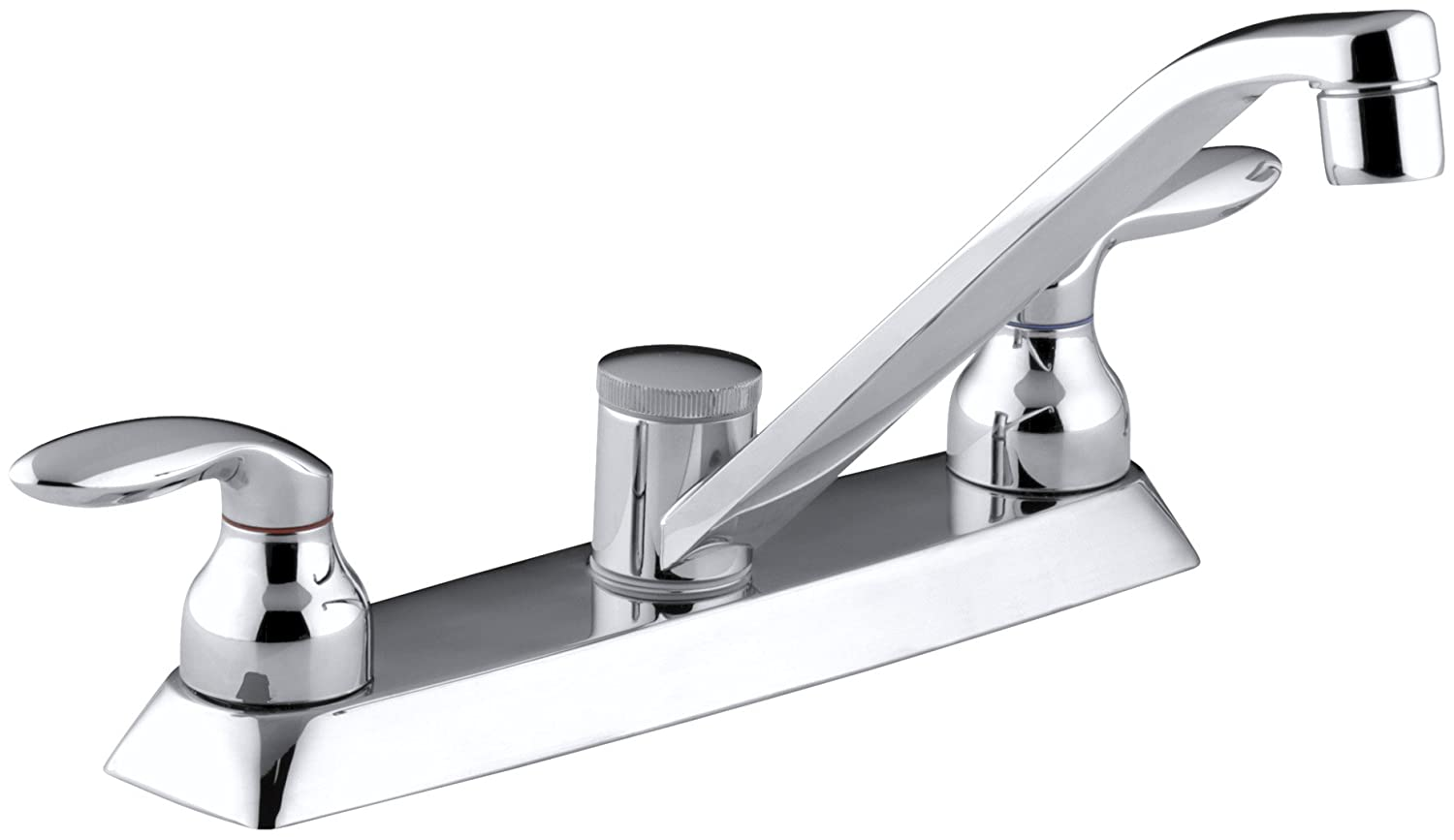 KOHLER K-15251-4-CP Coralais Kitchen Sink Faucet, Polished Chrome ...