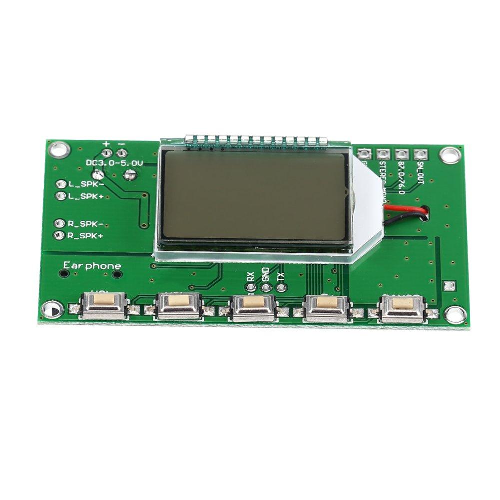 Akozon FM Module, FM Receiver Module Digital Frequency Modulation Radio Receiving Board Serial Port DIY