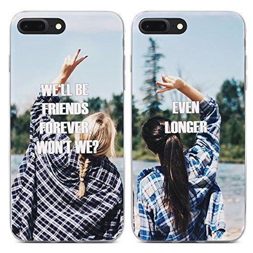 Funny Matching BFF Best Friends Every Blonde Needs a Brunette We'll be Friends Forever Won't We? Even Longer Couple Matching Sister Cousins Cute Thing for Girls Teens Kids Case for iPhone 7/iPhone 8