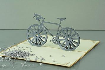 3 D Pop Up Grusskarte Geburtstag Geldgeschenk Handmade Fahrrad