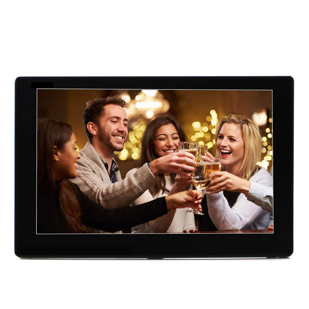 Esmartness 10 Inch WiFi Digital Photo Frame with IPS 1280x800 Display, Touch Screen, Built-in 8G Storage and Max External 64G Storage, Music Video Player Large Smart Digital Picture Frame (Black)