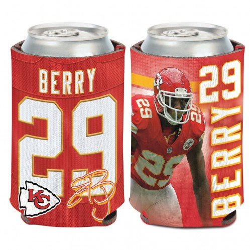 NFL Kansas City Chiefs Can Cooler 12 oz. Eric Berry Limited Can Koozie by WinCraft