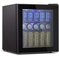 Tavata Wine Cooler- Freestanding Single Zone Fridge and Cellar Chiller, Quiet Wine Refrigerator with UV Protection Glass Door,Compressor Refrigeration for Counter Top? (17 Bottles)