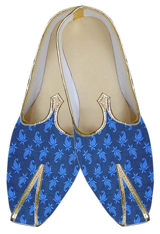 INMONARCH Zapato de Boda Increíble Azul Hombres MJ0013 37.5 EU