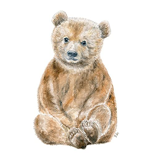 edfbf7836a7ad Amazon.com: Bear Nursery Art Print, Baby Bear Wall Art, Childrens ...