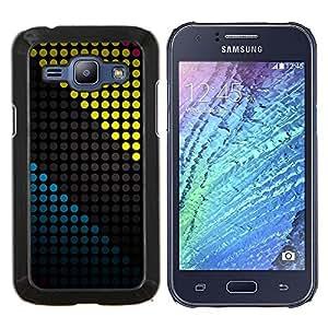 EJOOY---Cubierta de la caja de protección para la piel dura ** Samsung Galaxy J1 J100 ** --COLOR Modelo de puntos