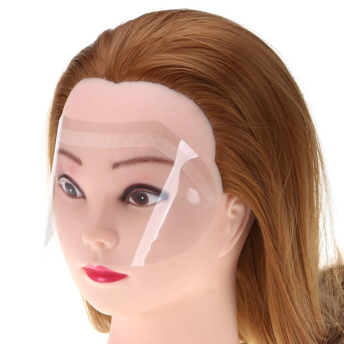 50pcs/set Hair Salon Hairspray Masks Film Hair Cutting Coloring for Forehead Eyes Protector Prevent Disposable Face Shield by SBRL
