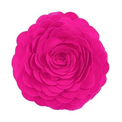 Amazon evas flower garden decorative throw pillow with insert evas flower garden decorative throw pillow with insert 13 inch round mightylinksfo
