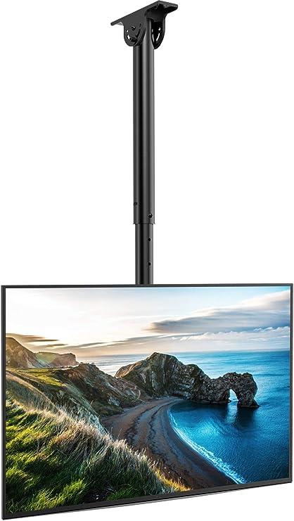 Soporte TV Techo - Soporte Giratorio Ajustable Inclinable para TV ...
