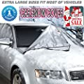 Car Windshield Snow Cover for Ice, Snow and Frost Guard - Fits Car, SUV, Truck & Car Windshields - Auto Windshield Snow Cover