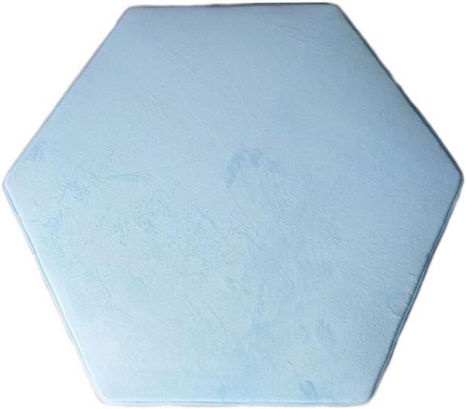 Lều công chúa lục giác Playpen Playpen Coral Fleece Light Blue Kids Lều trong nhà cho trẻ em Teepee Thảm trang trí Lều hình lục giác Thảm lót sàn cho bé 140 x 140 cm