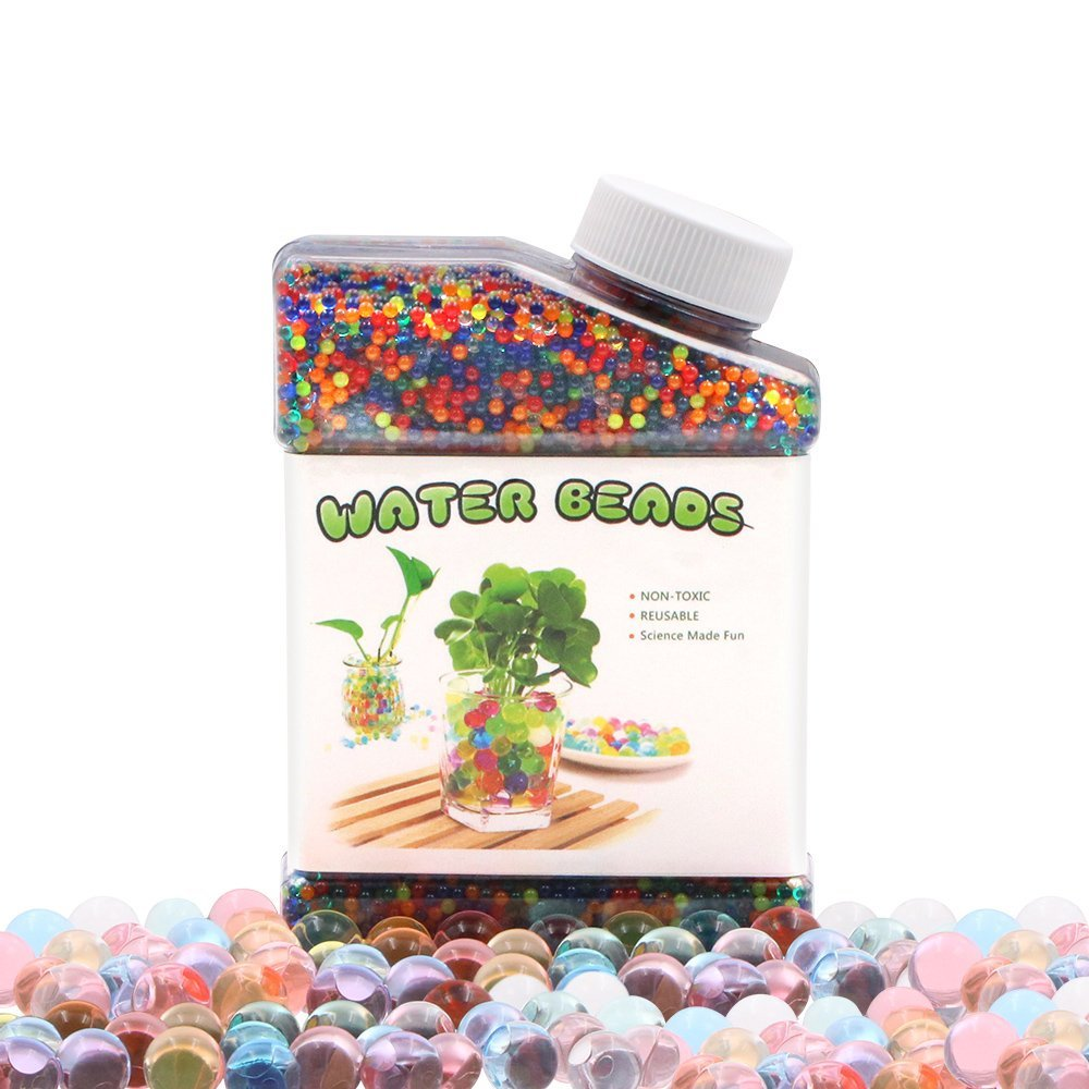 ETLEE Water Beads Rainbow Mix Pack - 50000 Jelly Gel Beads for Orbeez Spa Refill, Growing Balls Sensory Toys for Kids, Vases filler, Wedding and Home Decoration