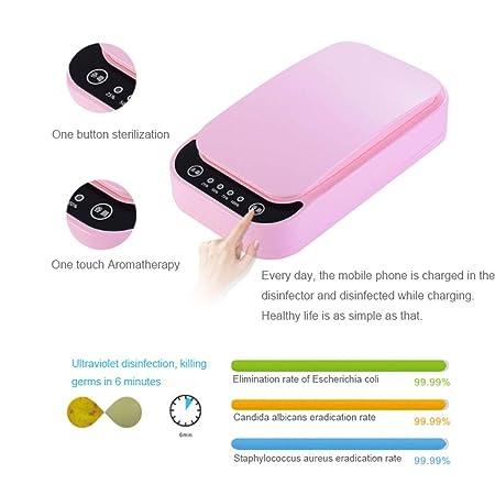 Esterilizadores Desinfectante de teléfono celular UV y cargador de teléfono celular universal doble con función de aromaterapia, uso en el hogar y en la ...