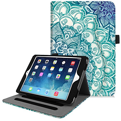 Fintie iPad Mini/Mini 2 / Mini 3 Case [Corner Protection] - [Multi-Angle Viewing] Folio Smart Stand Protective Cover with Pocket, Auto Sleep/Wake for Apple iPad Mini 1/2 / 3, Emerald Illusions