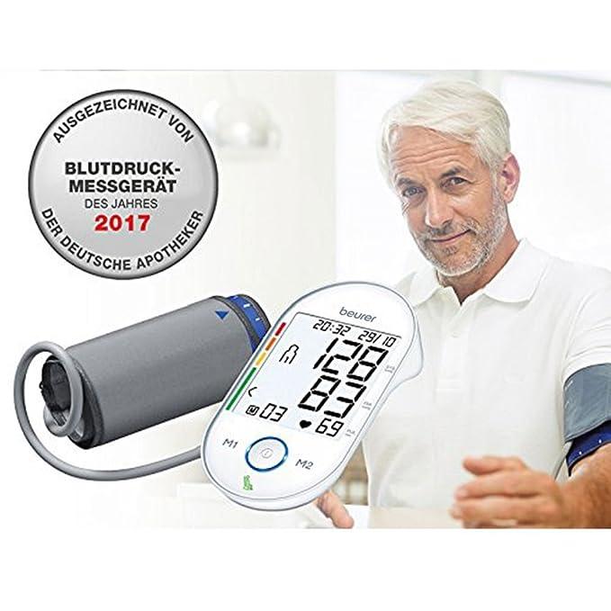 Beurer BM55 - Tensiómetro de brazo, memoria 2 x 60 mediciones, conexión a PC: Amazon.es: Salud y cuidado personal