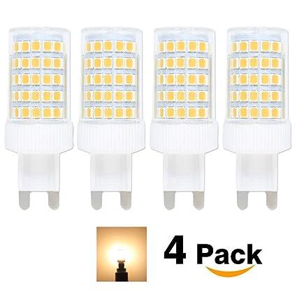 Bombillas LED G9 de 10W equivalentes a Lámparas halógenas de 80W,Blanco cálido 3000k,