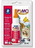 Staedtler FIMO Liquid, Gel fluide transparent pour pâte FIMO, Pour techniques de collage et jointoiement, Flacon de 50 ml, 8050-00 BK