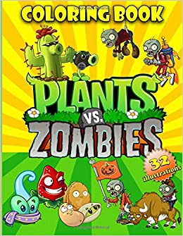 Amazon Com Plants Vs Zombies Coloring Book Great Coloring Pages