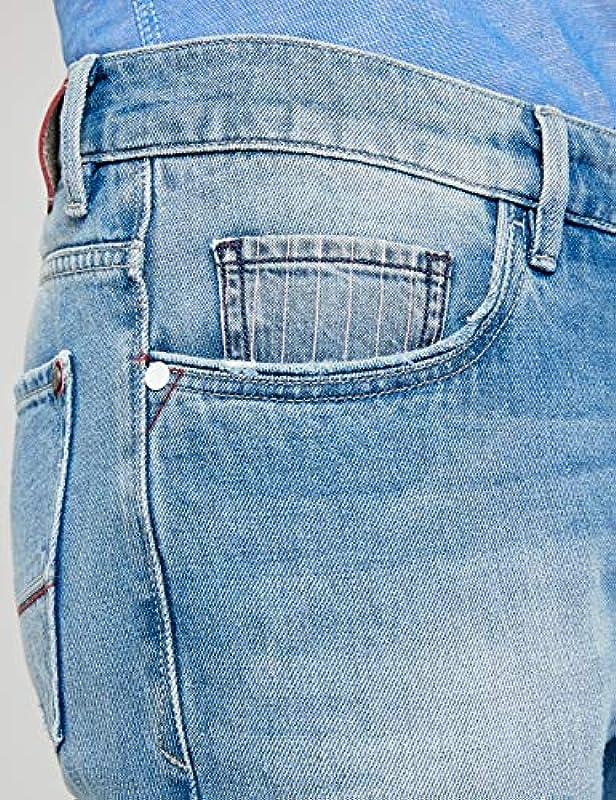 Pioneer Męskie dżinsy Rando Red Edition Straight: Odzież