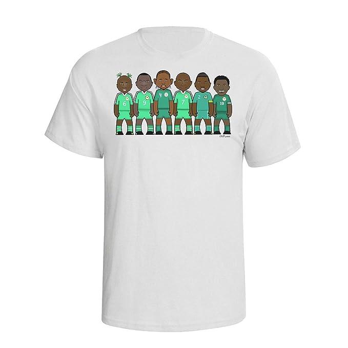 vipwees Hombres Nigeria Football Legends Caricatura Camiseta ...