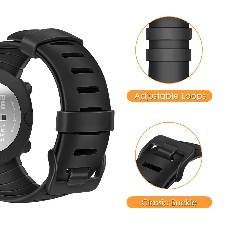 Malla De Repuesto Para Suunto Core Smartwatch, Negro