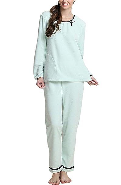 Mujer Conjunto De Pijama Primavera Otoño Batas Elegante ...