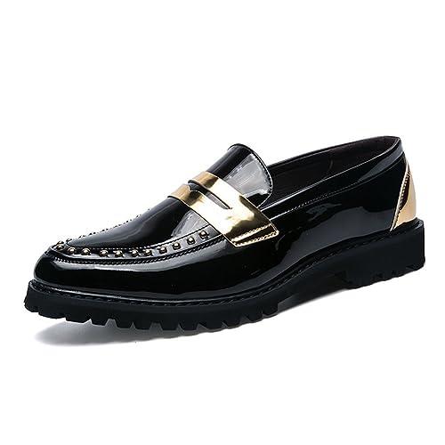 Mocasines Hombre 2018 Nuevo Zapatos Decorado Doradas Rivet Slip on Trabajo Viajar: Amazon.es: Zapatos y complementos