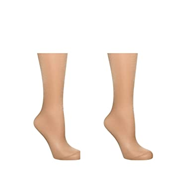 Silky 15 Denier Glossy Knee Highs//Glossy Ankle Socks|One Size|2 Pairs