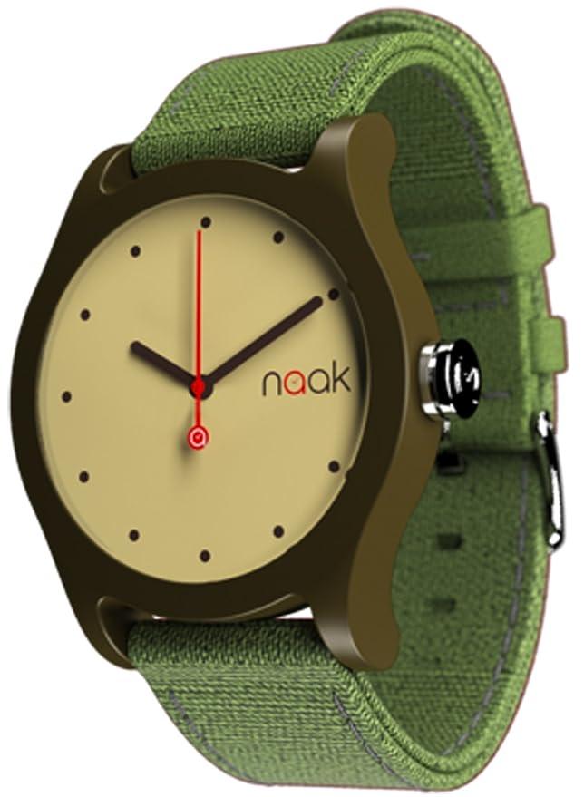 Naak Dark Gold Reloj para Unisex Analógico de Cuarzo con Brazalete de Nylon 017-DG-RMK: Amazon.es: Relojes