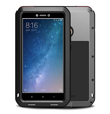 Xiaomi Mi Max 2 Funda, Love Mei Metal [Aluminio] y Silicona Antigolpes [