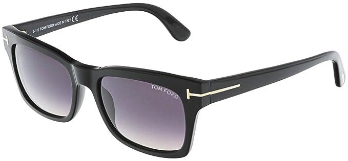 659659d10e Sunglasses Tom Ford FT 0494 01B Shiny Black/Gradient Smoke at Amazon ...