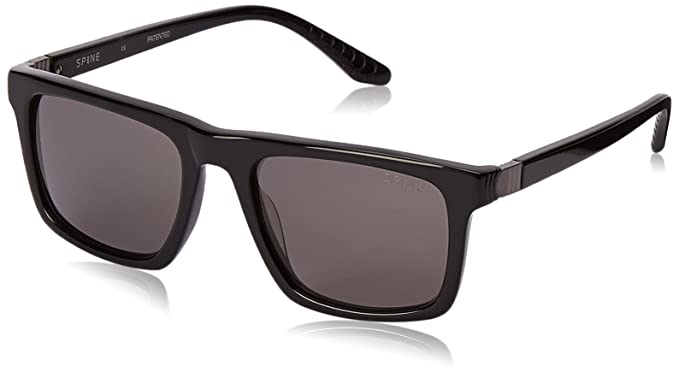 fc1914d5831a Amazon.com: Spine Optics Men's Sp3004 Square, Black, 53 mm: Clothing