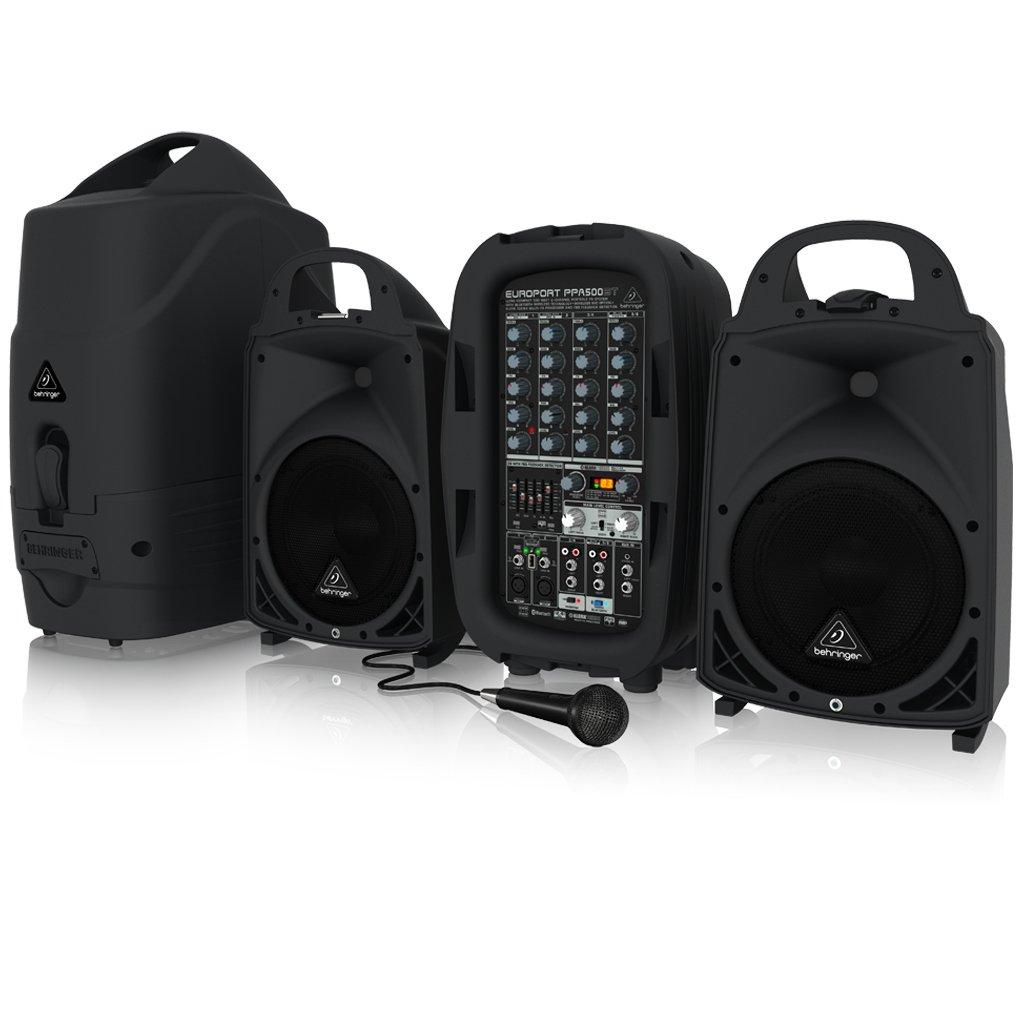Behringer EUROPORT PPA500BT Ultra-Compact 500-Watt 6-Channel Portable PA System