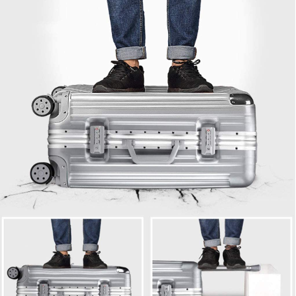 HUANGDA Suitcase Trolley Case Universal Wheel Net Red Suitcase 20 Student Female 26 Password Box 24 Leather Box 22 Inch Color : Blue, Size : 22 inches55.53825CM