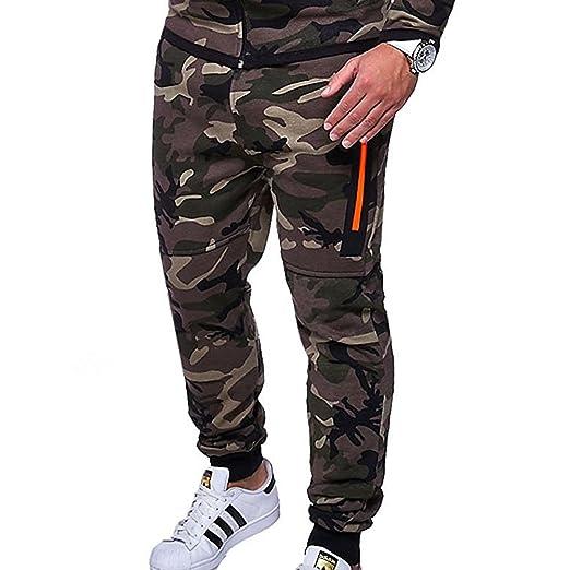 Pantalón de Camouflage,Longra ★ Moda Casual Chandal Aptitud Rutina de ejercicio Joggers Gimnasio Al aire libre…