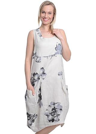 arrives new arrival sells Golden Spiderweb Sunflower Linen Pocket Dress: Amazon.co.uk ...