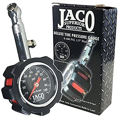 JACO Deluxe Tire Pressure Gauge - 100 PSI from JACO Superior Products
