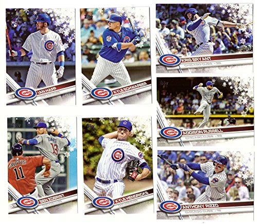 (2017 Topps Walmart Holiday Snowflake - CHICAGO CUBS Team Set)