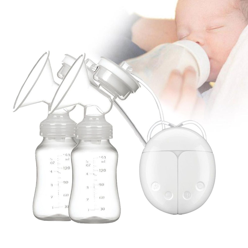 Electric Breast Pump Breasting Pump Dual Suction Portable for Automatic Breastfeeding and Massage by Upstartech