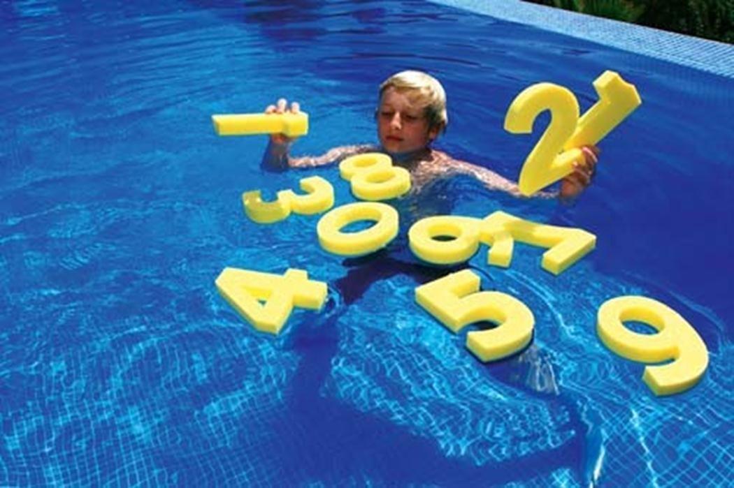 Sportsgear US Kids Swimming Pool Aqua Fun Learning Toys Floating Aids Foam Numbers Set of 10
