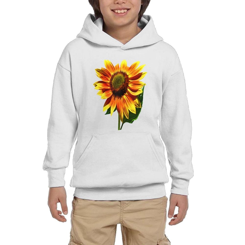 GLSEY Raises Sunflower Pattern Youth Soft Pullovers Hooded Sweatshirts Long Sleeve