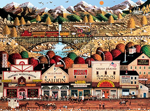 Buffalo Games - Charles Wysocki - Sleepy Town West - 1000 Piece Jigsaw Puzzle