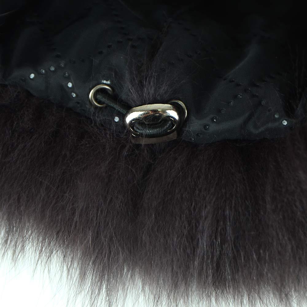Gegefur Luxury Mink Fur Whole Skin Fox Fur Women Hat Warm Hat in Winter