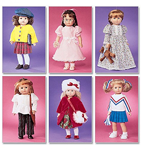 McCalls Crafts Sewing Pattern 3900 Doll Clothes All Year Wardrobe -