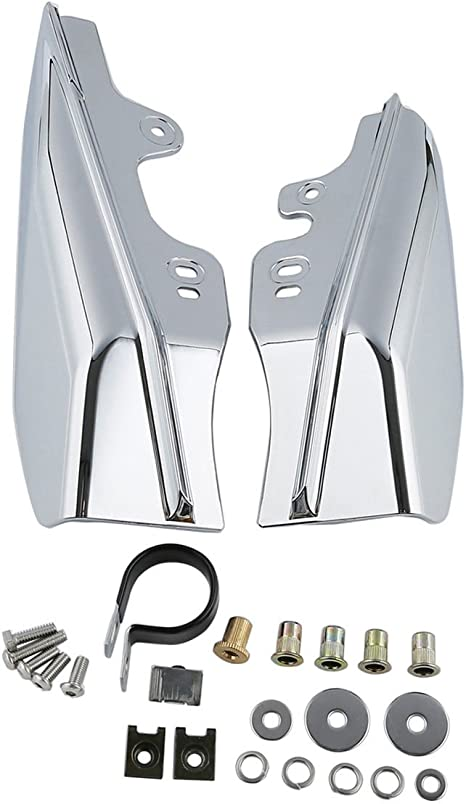 Mid-Frame Air Heat Deflectors Compatible with Harley Touring Electra Street Glide Road King 2001-2008