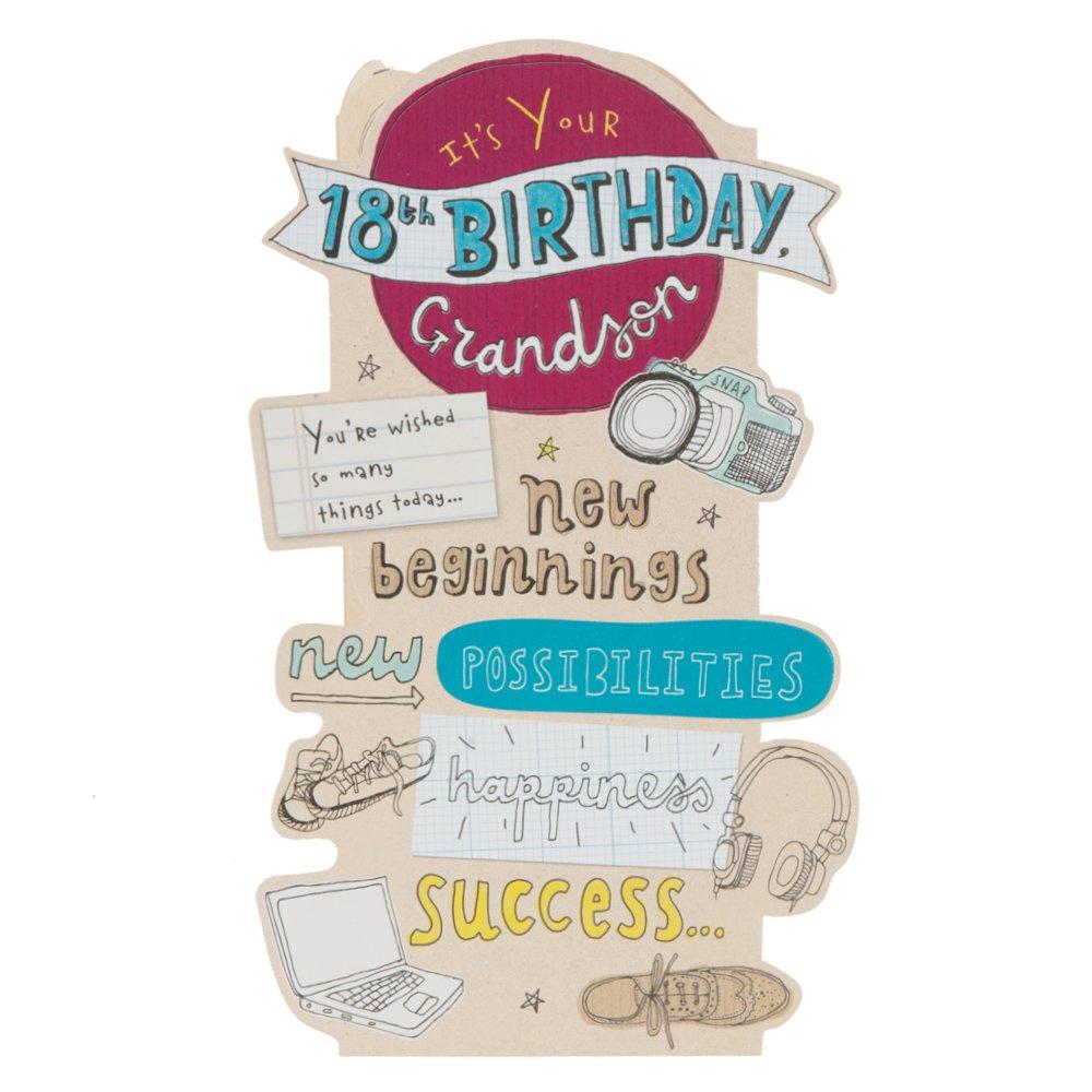 Amazon Grandson 18th Birthday Birthday Greetings Card