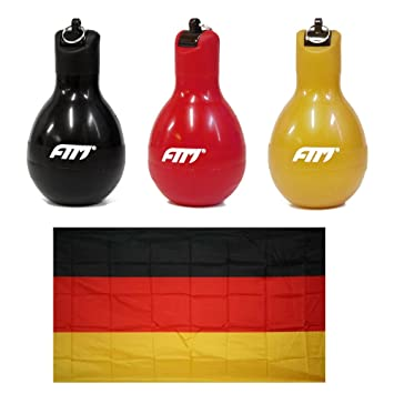 FTM Fan Set Deutschland Gold 3X Wizzball Handpfeife Schwarz Rot 1x Flagge Fahne 120 x 90 cm